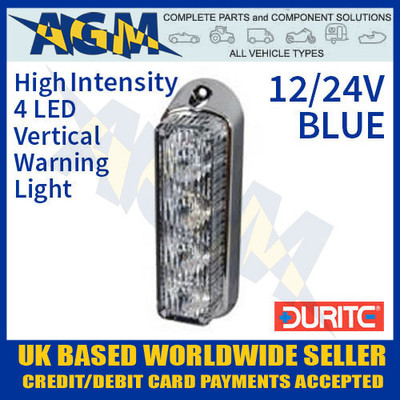 0-442-32, 044232, durite, blue, high, intensity, led, vertical, warning, light, 12v, 24v