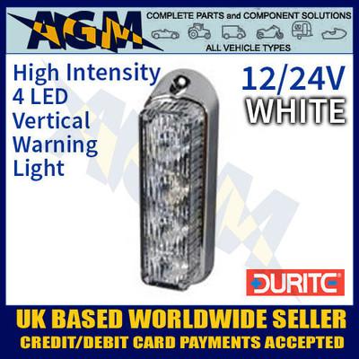 0-442-37, 044237, durite, white, high, intensity, led, vertical, warning, light, 12v, 24v