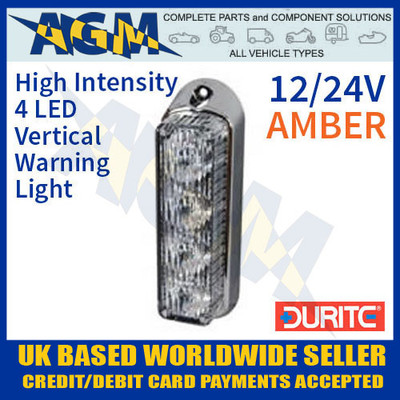 0-442-40, 044240, amber, high, intensity, led, vertical, warning, light, 12v, 24v