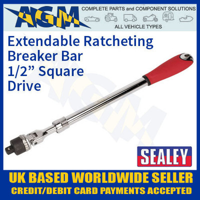 "sealey, ak7316, extendable, ratchet, breaker, bar, 1/2"", square, drive"