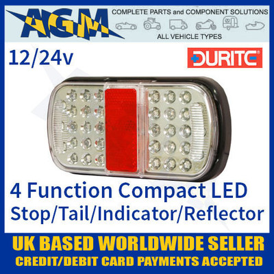 durite, 0-300-10, 030010, function, 12v, 24v, compact, led, rear, combination, lamp