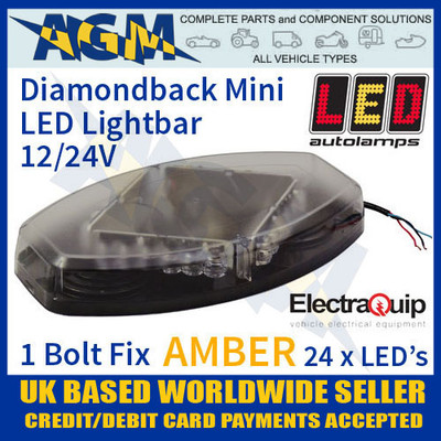 eqr10-355a, diamond, mini, amber, led, light, bar