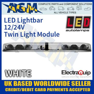 eqlb302ac, led, lightbar, clear, white, twin, light, module