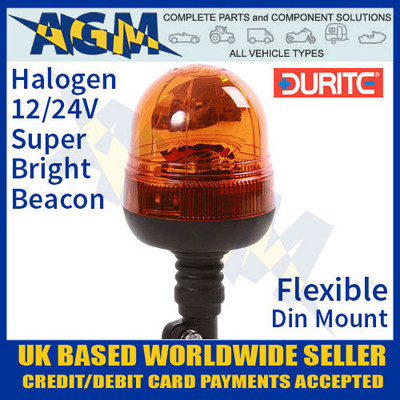 0-444-39, 044439, 12v, 24v, rotating, halogen, beacon, flexible, din, mount