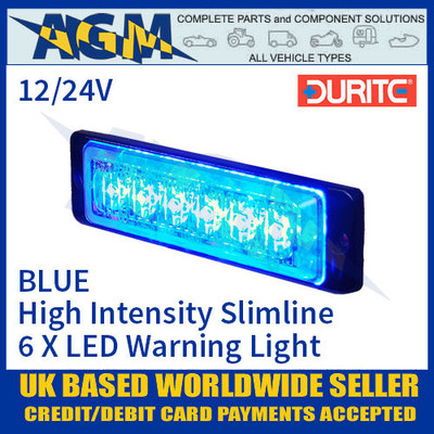 Durite 0-441-02 Blue LED Warning Light