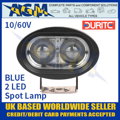 Durite 0-420-75 2 LED BLUE Spot Lamp Light 10/60v