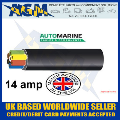 TW07/01, Automarine, 14amp cable, 10 metres, 7 core
