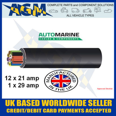 Durite Auto Marine 3-997-00 7 Core PVC Auto//Trailer Cable 100 Metre Reel