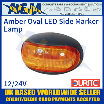 Durite 0-170-30 Amber LED Oval Side Marker Lamp