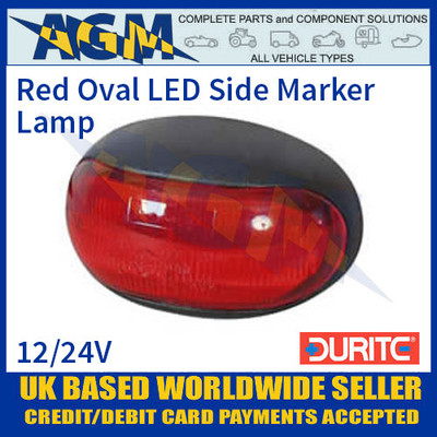 Durite 0-170-25 RED LED Oval Side Marker Lamp