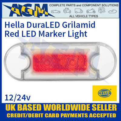 Hella 2XT 980 855-347 Red LED Marker Light