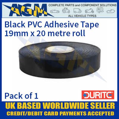 Durite 5-615-00 Black PVC Adhesive Tape 19mm x 20 metre roll