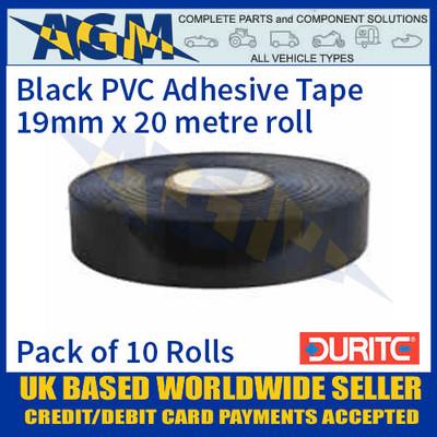 Durite 0-615-00 Black PVC Adhesive Tape