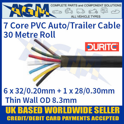 Durite 0-997-65 7 Core PVC Auto/Trailer Cable