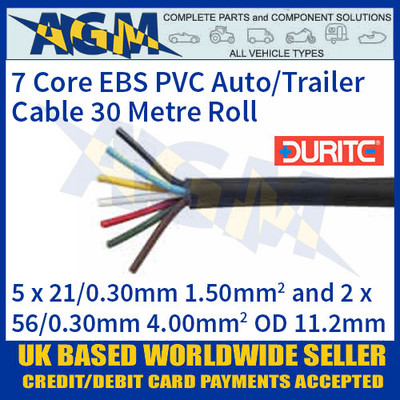 Durite 0-997-20 7 Core PVC Auto/Trailer Cable