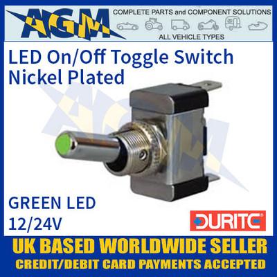 12v//24v Amber LED On//Off Round Rocker Switch /& Beacon Symbol Durite 0-531-18