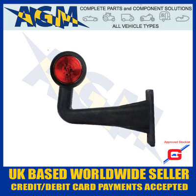 led, uk, light, white, red, ML72LH, Left, Side Truck, Outline Marker, Guardian, Rubber, AGM, Parts, Components,