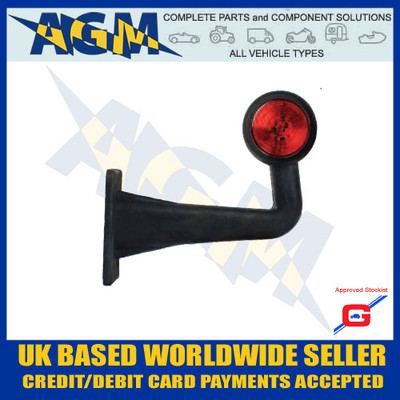 led, uk, light, white, red, ML72RH, Right, Side Truck, Outline Marker, Guardian, Rubber, AGM, Parts, Components,