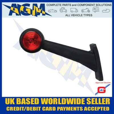 led, uk, light, white, red, ML71LH, Left, Side Truck, Outline Marker, Guardian, Rubber, AGM, Parts, Components,