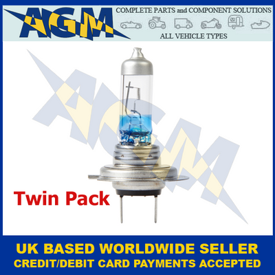 Ring RW3377, Xenon Twin Pack, 130% Brighter, H7 Headlight Upgrade Bulb