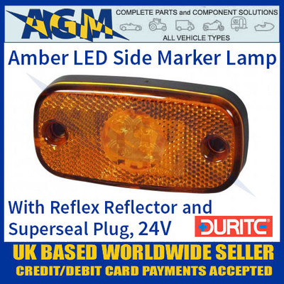 Durite 0-168-60 AMBER LED Side Marker Lamp