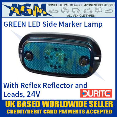 Durite 0-167-60 GREEN LED Side Marker Lamp with Leads