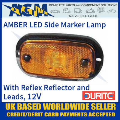 Durite 0-167-10 AMBER LED Side Marker Lamp with Leads