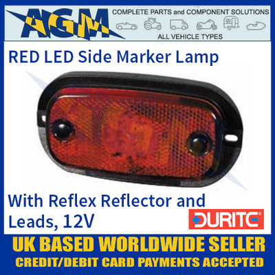 Durite 0-167-05 RED LED Side Marker Lamp with Leads