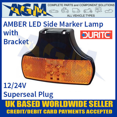 Durite 0-171-11 AMBER LED Side Marker Lamp with Superseal Plug