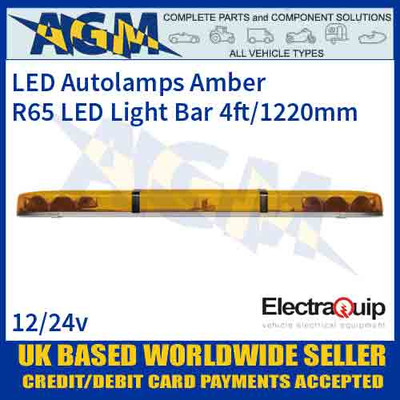 EQLB482WA LED Lighbar Amber Twin Light Module 4ft/1220mm