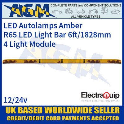 EQLB724WA LED Lightbar Amber Four Light Module 6ft/1828mm