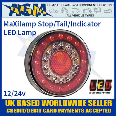 LED Autolamps 1XCE MaXilamp Stop/Tail/Indicator Combination Lamp, 12-24v