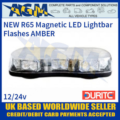 Durite 0-443-65 Amber High Power LED Magnetic Fixing Lightbar