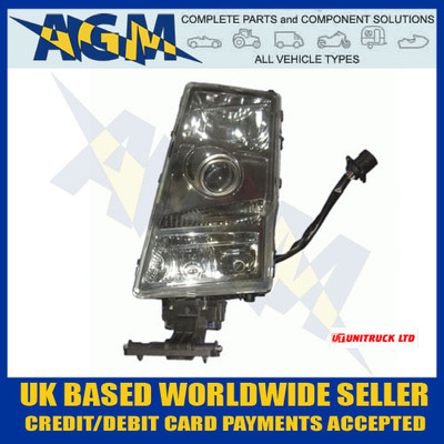 unitruck, u5301, 5301, volvo, fh, fm, n/s, headlight, glass
