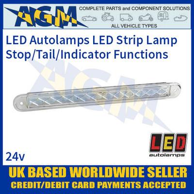 LED Autolamps 235WST124 Stop/Tail/Indicator Slimline Strip Lamp, 24v