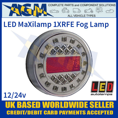 LED Autolamps 1XRFE MaXilamp LED Fog Lamp, 12-24v