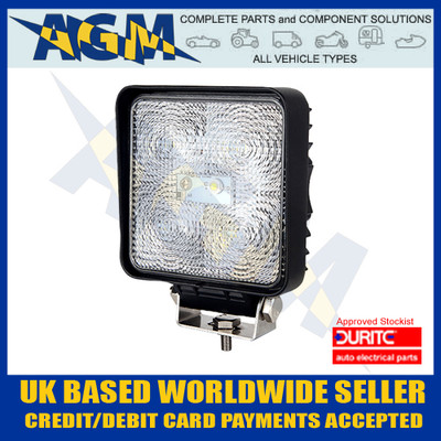 durite, 0-420-44, 042044, square, led, work, light, 12v, 24v
