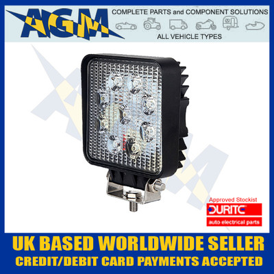 durite, 0-420-46, 042046, square, led, work, light, 12v, 24v