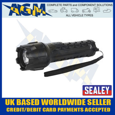sealey, led050, cree, led, waterproof, torch