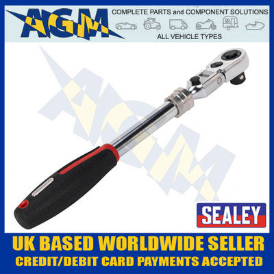 sealey, ak8984,flexi-head, extension, ratchet, wrench