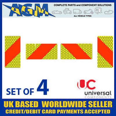 Set of 4 - ECE Type 4 - Aluminium Marker Boards A1042