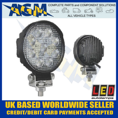 led, autolamps, 10715bm, round, flood, lamp, 12v, 24v