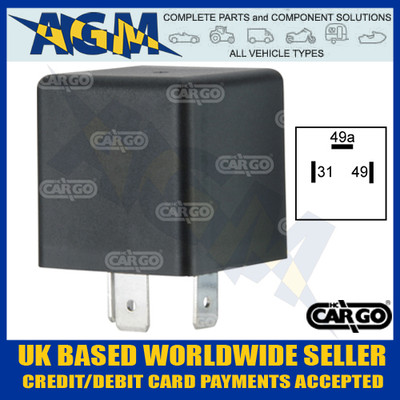 cargo, 160474, 12v, hazard, flasher, unit, low, profile