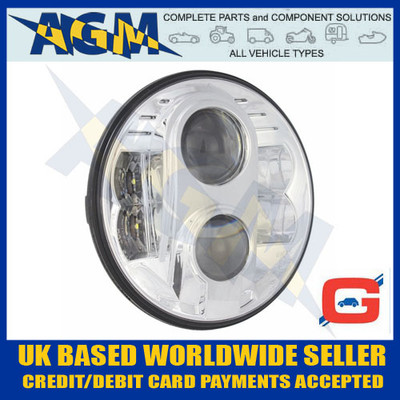 "guardian, sb2led, chrome, finish, 7"", sealed, beam, headlight"