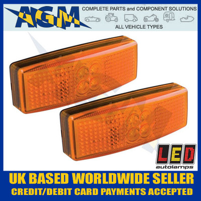 White Marker Lamp 12//24v LED Autolamps 37RWM LED Front Rear Red