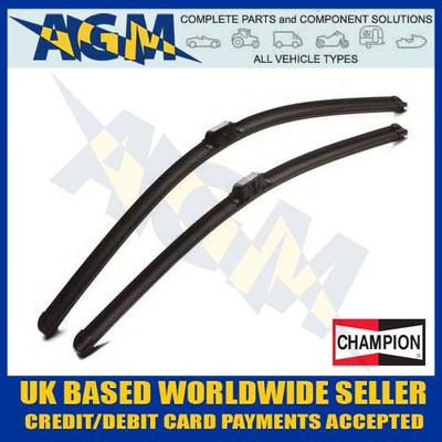 champion, afu7575a, aerovantage, front, pair, wiper, blades