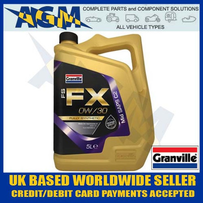 granville, 0866, fs-fx, 0w/30, mid, saps, c2, fully, synthetic, engine, oil