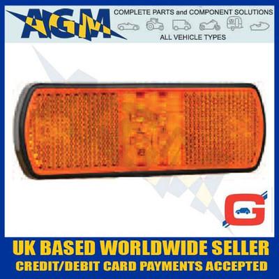 guardian, pe565, amber, led, side, marker, lamp, reflex, reflector, fly, lead, 12v, 24v