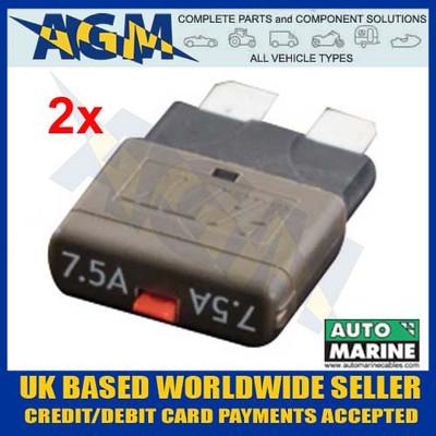 automarine, acb07, circuit, breaker, 7.5, amp, brown, blade, fuse