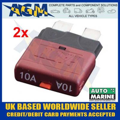 automarine, scb10, circuit, breaker, 10 amp, red, blade, fuse